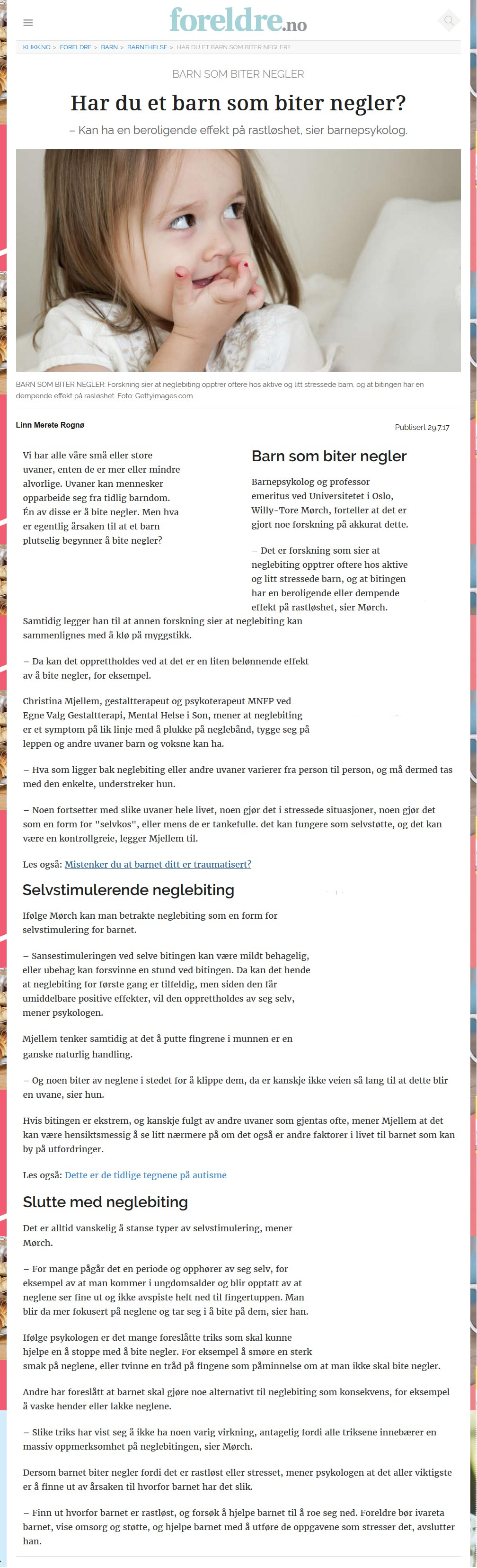 Neglebiting - Christina Mjellem Reg. Gestaltterapeut MNGF
